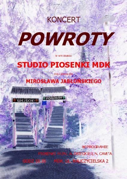 Koncert POWROTY z piosenkami Osieckiej! ZAPRASZAMY!