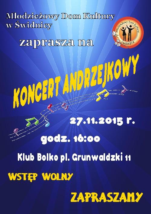 Koncert Andrzejkowy – ZAPRASZAMY
