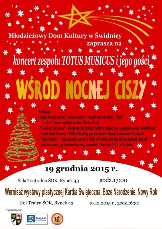 Koncert kolęd Zespół TOTUS MUSICUS i jego goście – ZAPRASZAMY !!!