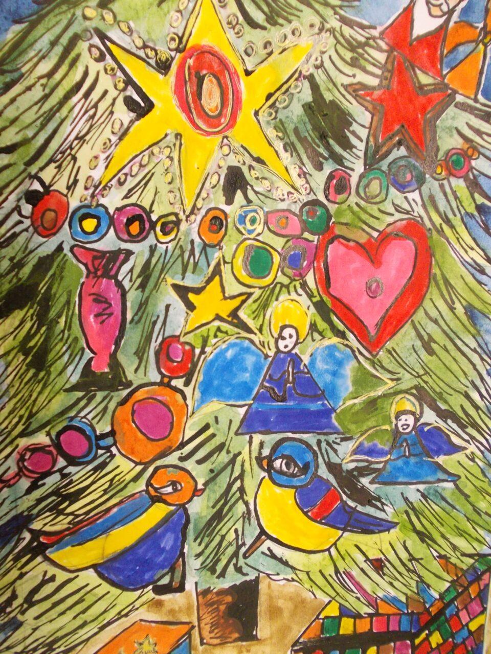 """Wyniki konkursu plastycznego """"Kartka Świąteczna – Boże Narodzenie – Nowy Rok 2016″"""