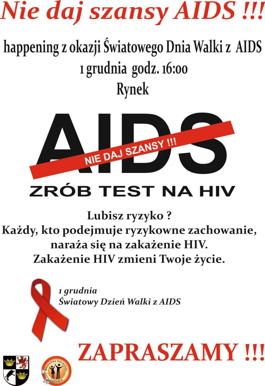 światowy Dzień Walki Z Aids 01122016 Młodzieżowy Dom