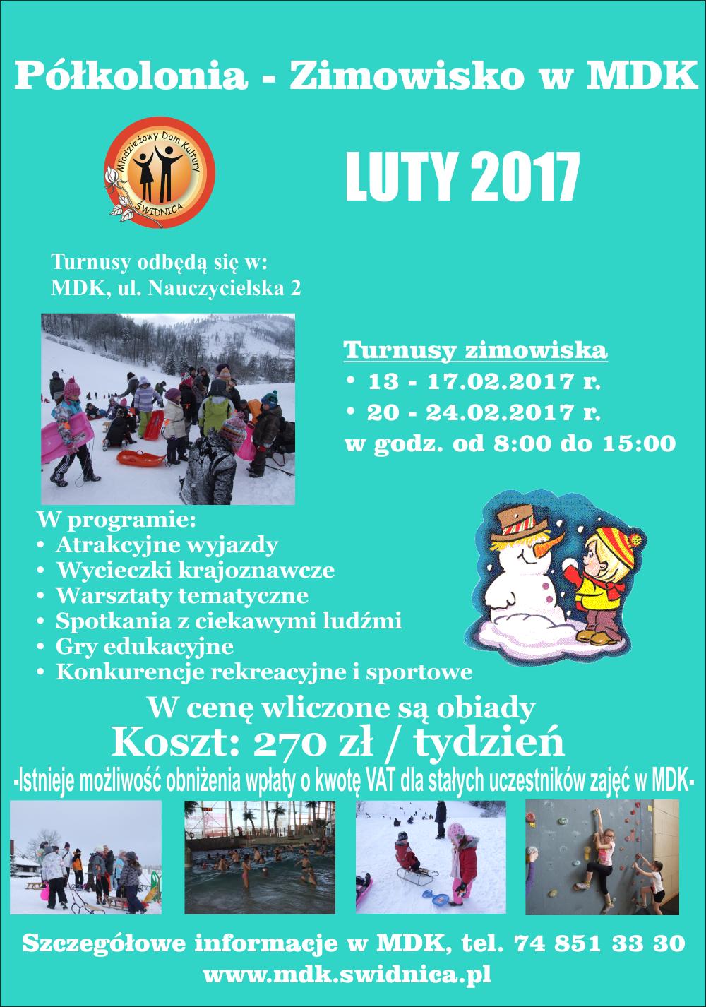 plakat zimowisko 2017