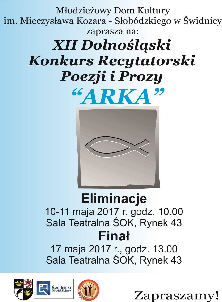 """XII Dolnośląski Konkurs Recytatorski Poezji i Prozy """"Arka"""""""