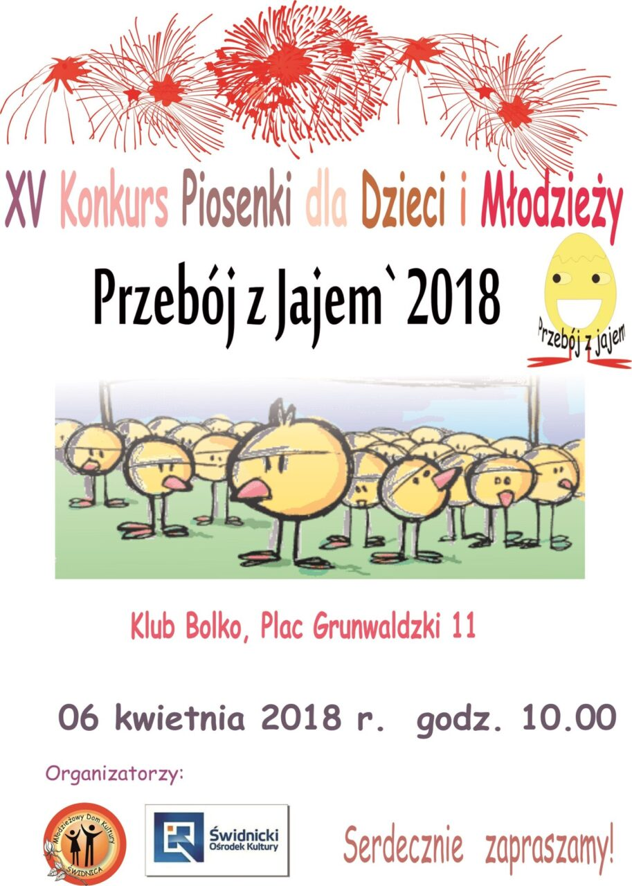 """XV Konkurs Piosenki dla Dzieci i Młodzieży """"Przebój z Jajem"""" – Protokół"""