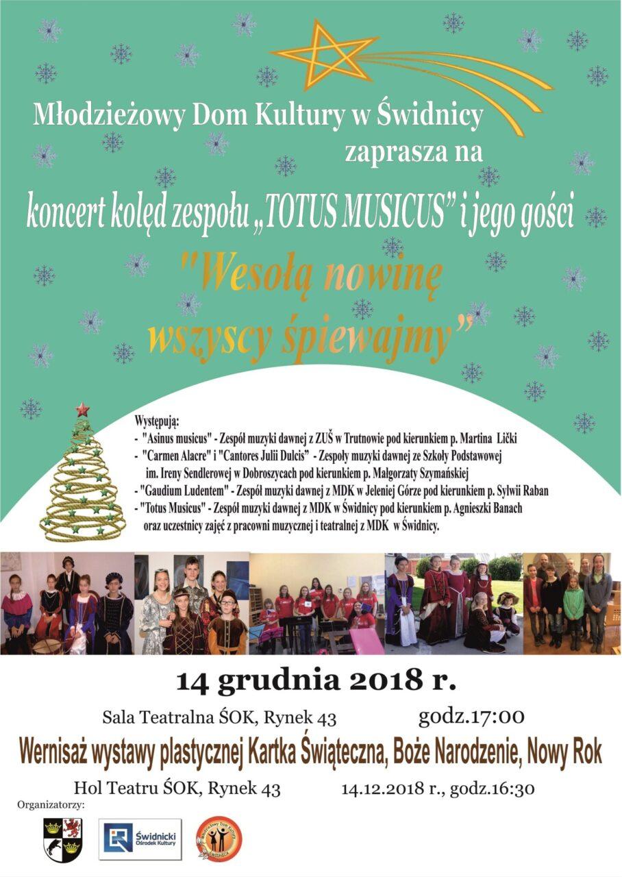 """Koncert kolęd zespołu """"Totus Musicus"""" i jego gości"""