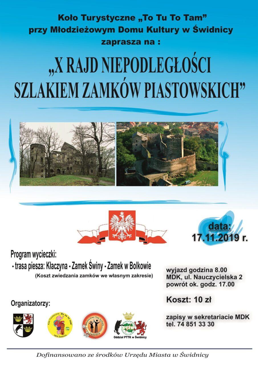 X Rajd Niepodległości Szlakiem Zamków Piastowskich