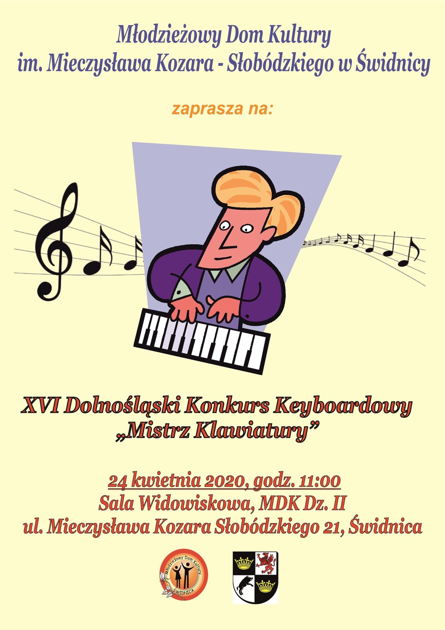 """XVI Dolnośląski Konkurs Keyboardowy """"Mistrz Klawiatury"""""""