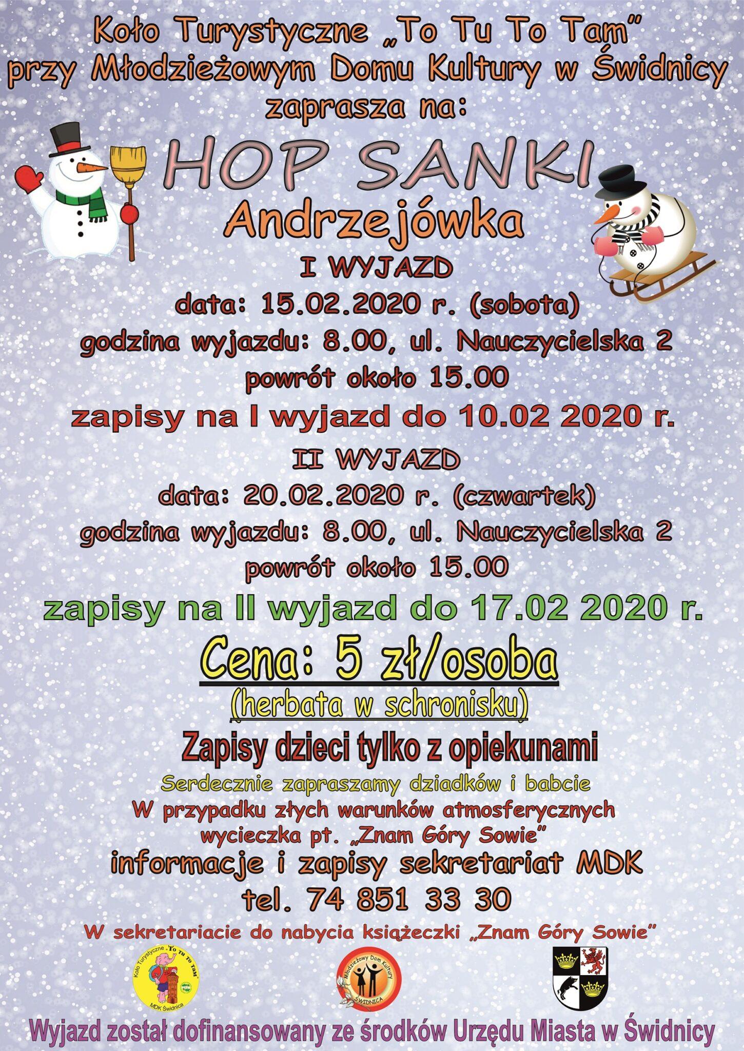 Hop - Sanki przy Andrzejówce