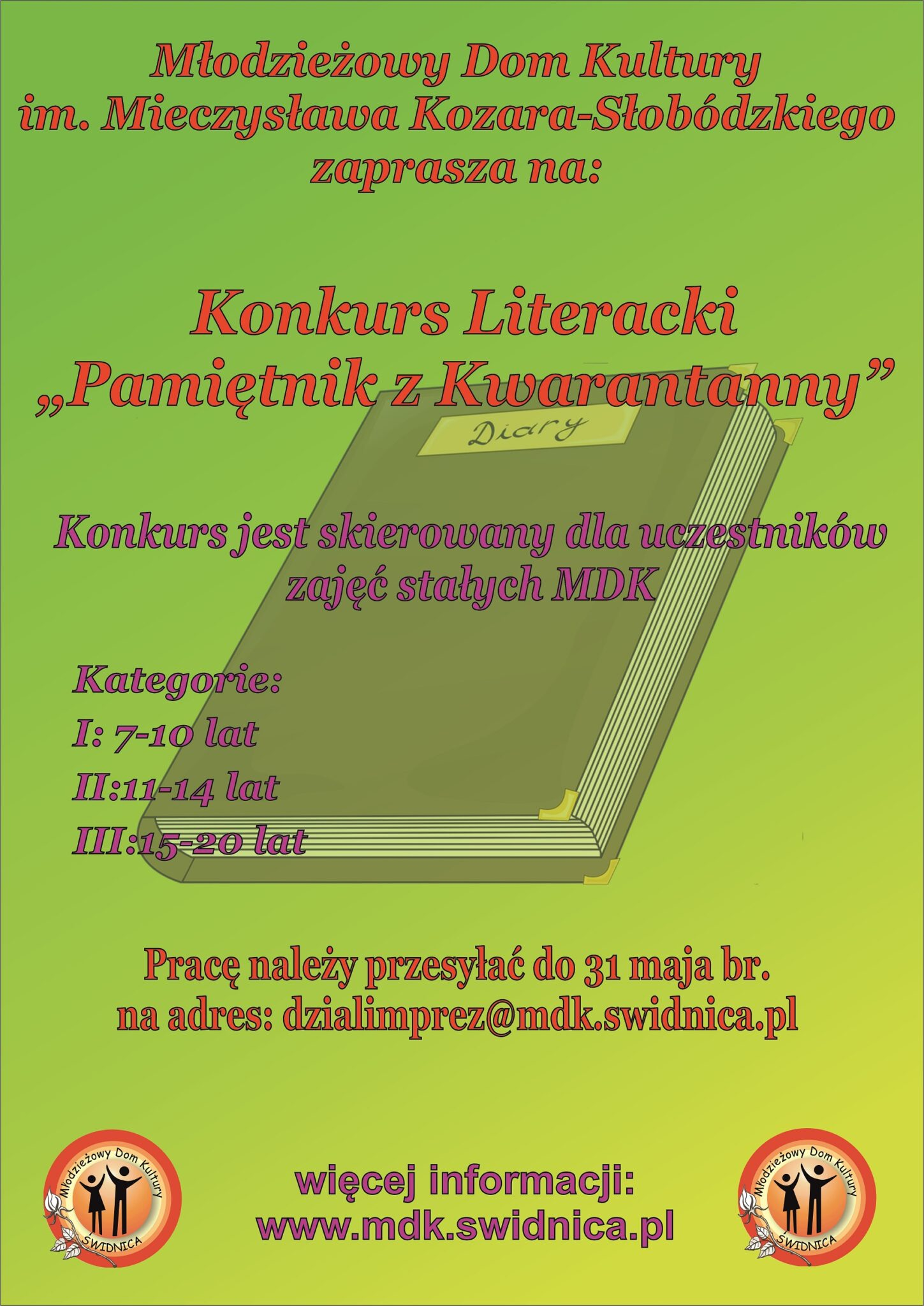 "Konkurs Literacki ""Pamiętnik z kwarantanny"""