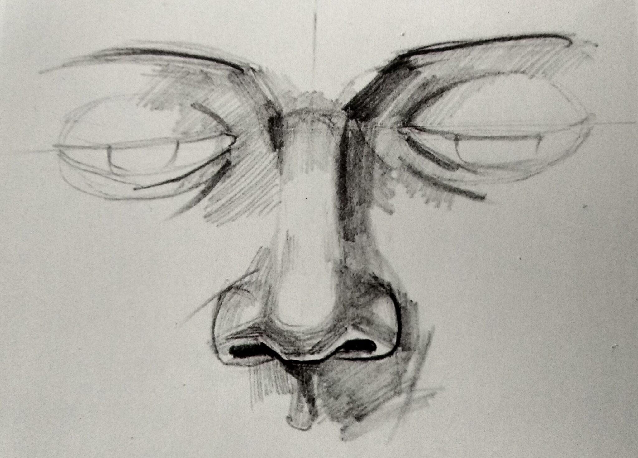 Ćwiczenie portretowe- nos