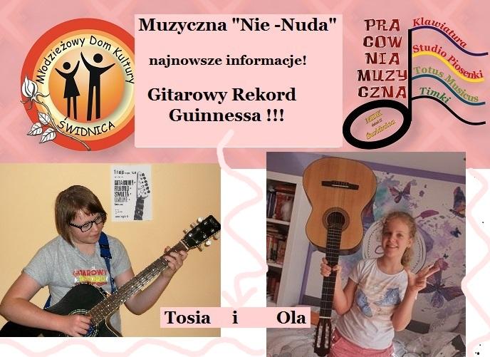 """Tosia Teuerle i Ola Kośkiewicz  z koła """"Klawiatura"""" zagrały w największej orkiestrze gitarowej świata! – najnowsze wiadomości z Muzycznej """"Nie-Nudy"""""""