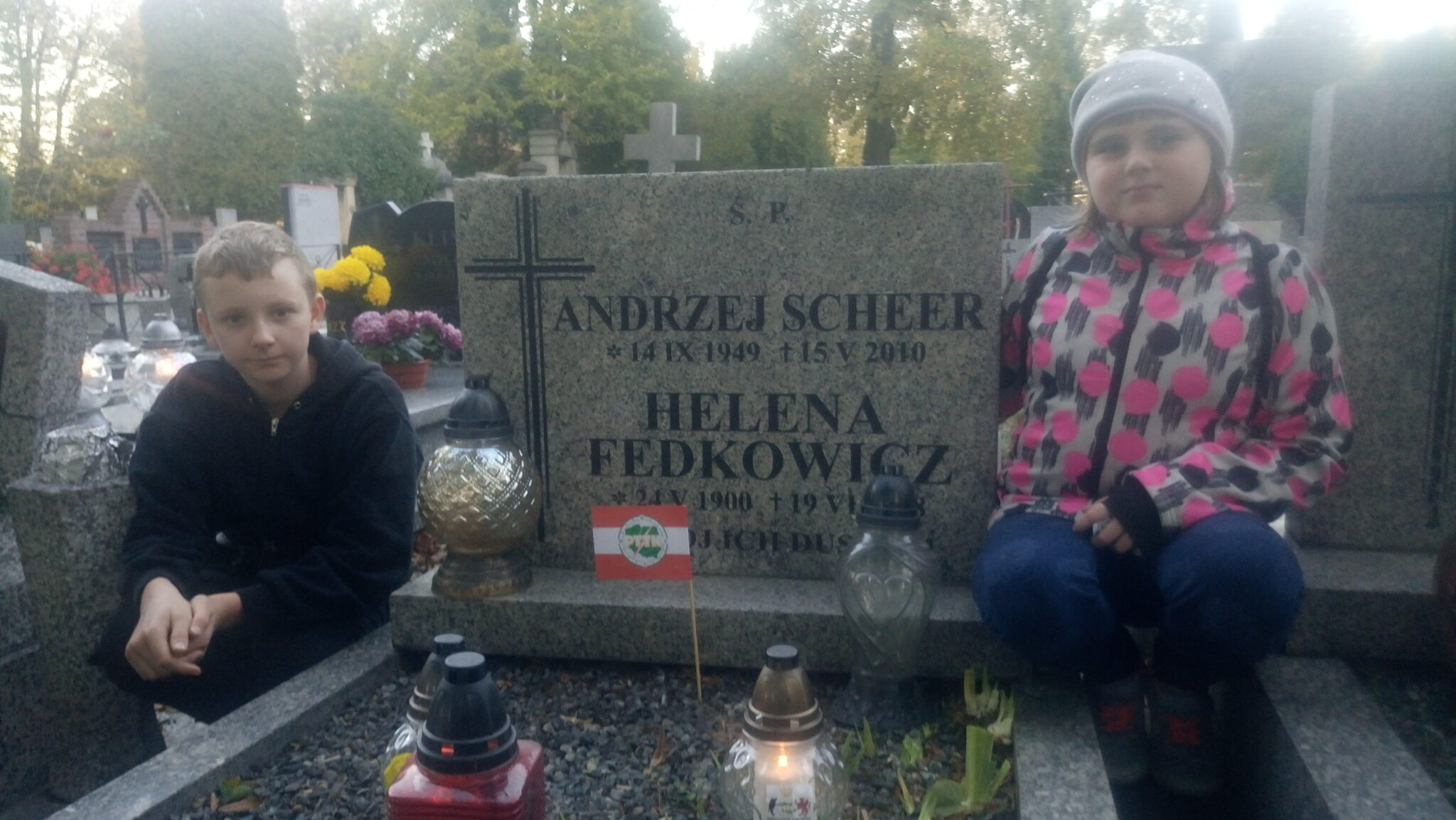 30 października 2018 Z wizytą na cmentarzu