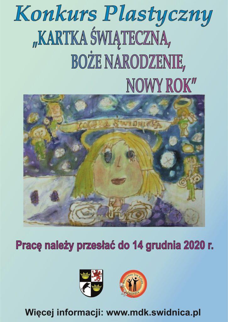 """Konkurs Plastyczny """"KARTKA ŚWIĄTECZNA – BOŻE NARODZENIE – NOWY ROK"""""""