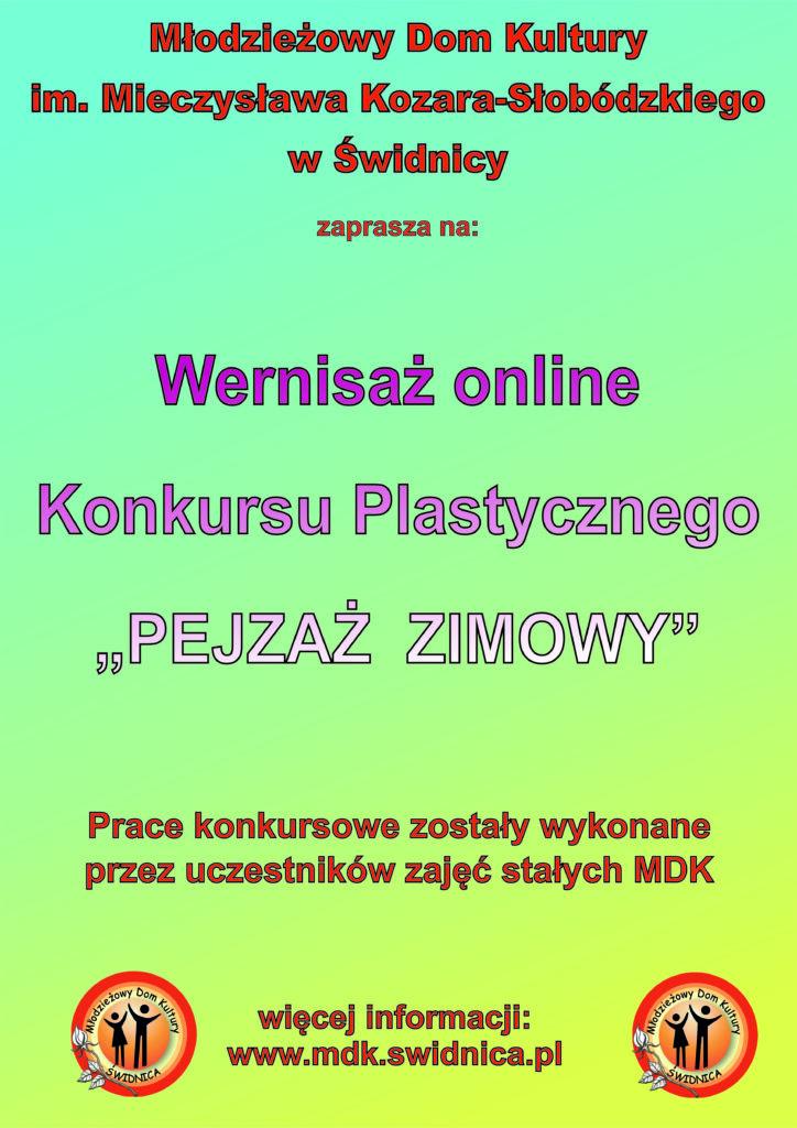 """Wernisaż online Konkursu Plastycznego """"Pejzaż zimowy"""""""