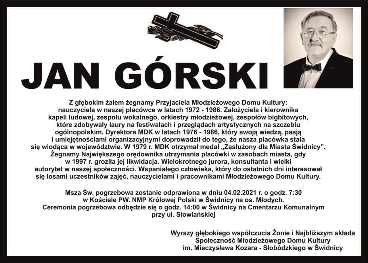 Nie żyje Jan Górski