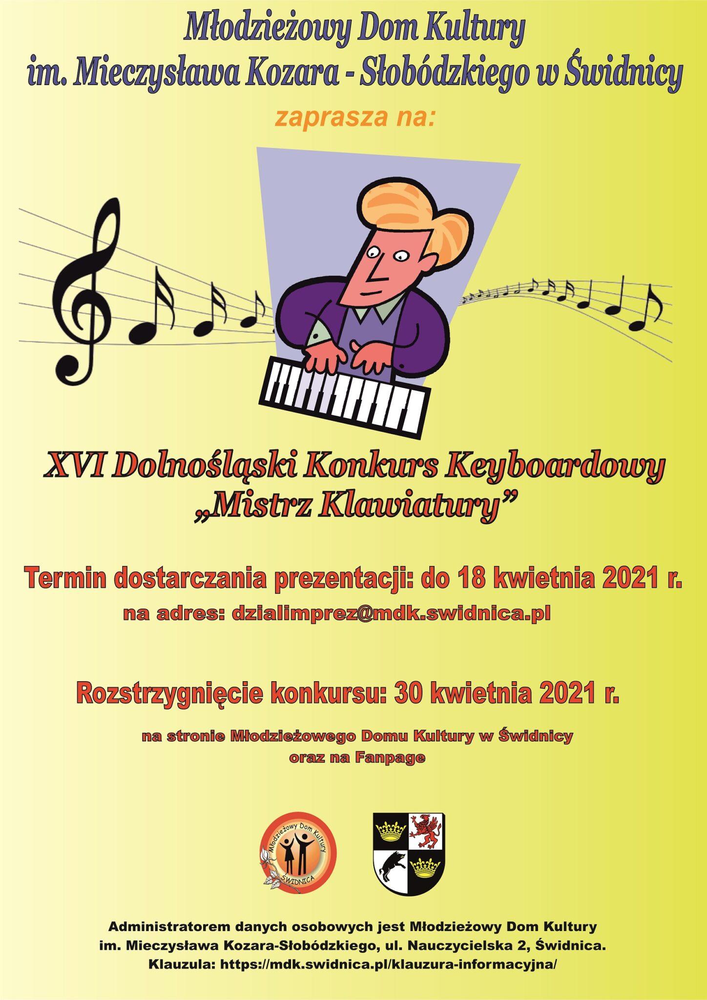 """XVI Dolnośląski Konkurs Keyboardowy """"Mistrz Klawiatury"""" – Online"""