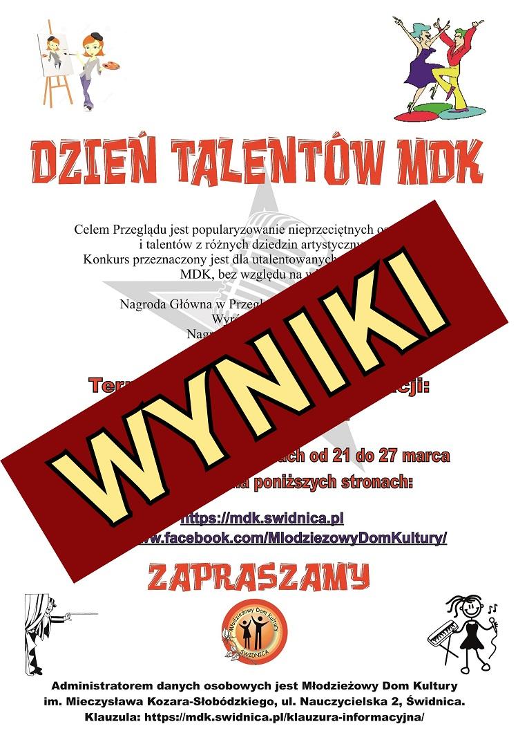 """Wyniki """"Dzień Talentów MDK"""" 2021"""