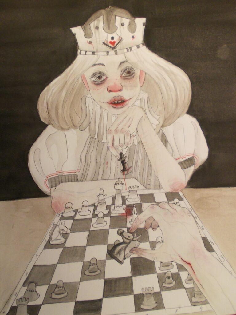 """Malowane szachy z """"Mansardy"""""""