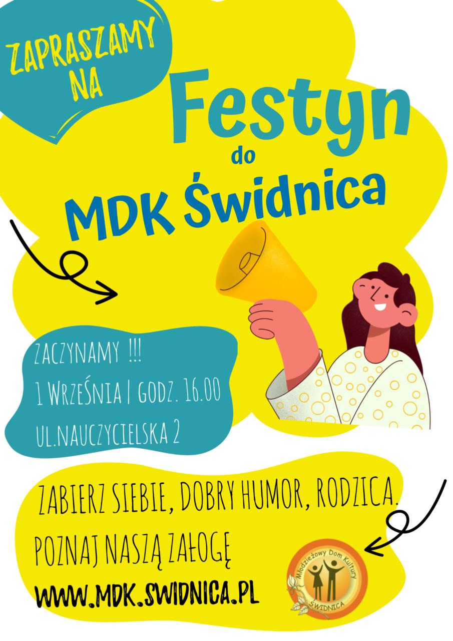 Zapraszamy na Festyn w MDK Świdnica